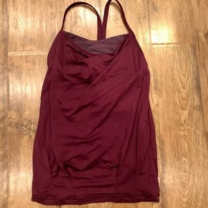 LULULEMON - maroon tank with attached bra💕